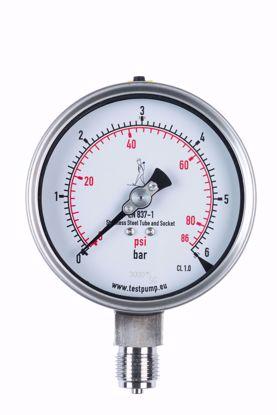 Afbeelding van 0-6 Bar Manometer, Ø100mm, 1%