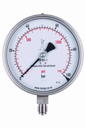 Picture of 0-100 Bar Pressure Gauge, Ø150mm, 1%
