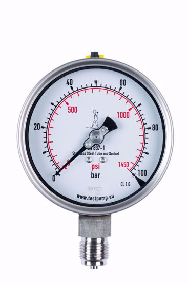 Picture of 0-100 Bar Pressure Gauge, Ø100mm, 1%