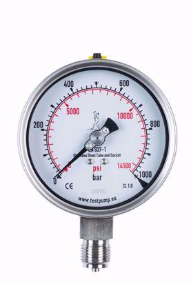 Afbeelding van 0-1000 Bar Manometer, Ø100mm, 1%