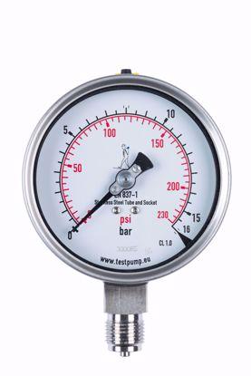 Picture of 0-16 Bar Pressure Gauge, Ø100mm, 1%