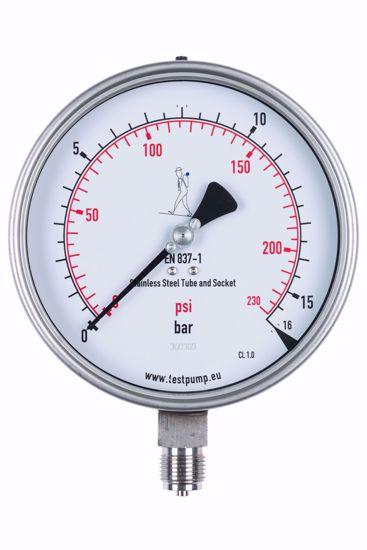 Afbeelding van 0-16 Bar Manometer, Ø150mm, 1%