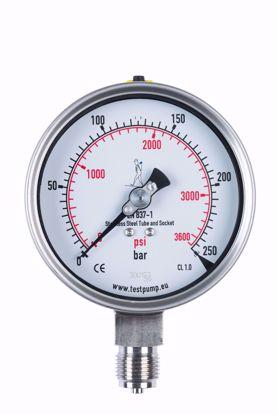 Picture of 0-250 Bar Pressure Gauge, Ø100mm, 1%