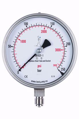Afbeelding van 0-250 Bar Manometer, Ø150mm, 1%