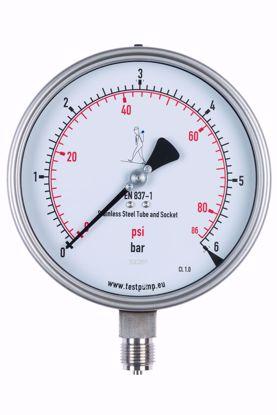 Afbeelding van 0-6 Bar Manometer, Ø150mm, 1%