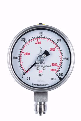 Picture of 0-600 Bar Pressure Gauge, Ø100mm, 1%