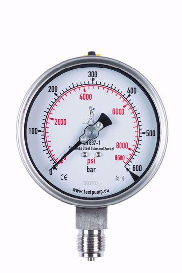 Afbeelding van 0-600 Bar Manometer, Ø100mm, 1%
