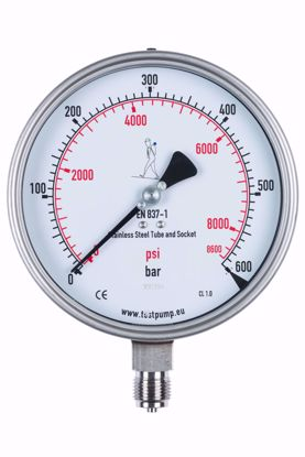 Picture of 0-600 Bar Pressure Gauge, Ø150mm, 1%
