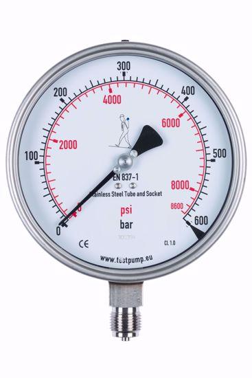 Picture of 0-600 Bar Pressure Gauge, Ø150mm, 1%