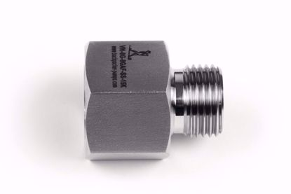 "Picture of Adapter 1/2"" BSP acc. EN 837 female x 1/2""BSP male, 60 degree cone"