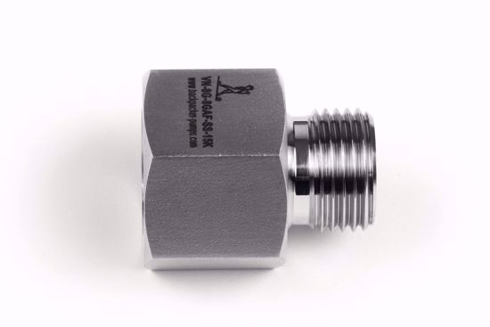 """Picture of Adapter 1/2"""" BSP acc. EN 837 female x 1/2""""BSP male, 60 degree cone"""
