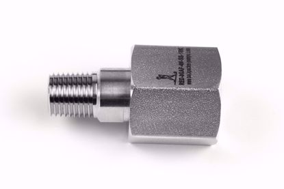 "Picture of Adapter 1/2"" BSP acc. EN 837 female swivel x 1/4""NPT male"